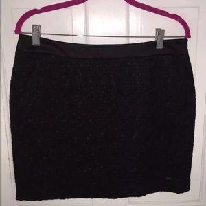 Tommy Hilfiger Black Textured Mini Skirt sz 10